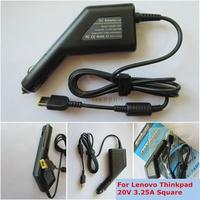 Автомобильная зарядка для ноутбука Lenovo IdeaPad Yoga Pro, 11, 13 ADLX65NCC3A ADLX65NLC3A, ADLX65NDC3A, ADLX65NCT3A, ADP-65XB, U1000EA 20V 3.25A USB pin