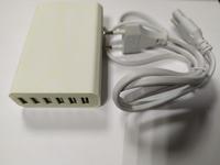 Многопортовое зарядное устройство (выход 6 USB, 5V 2.4A порт, 5V 10A max) белый