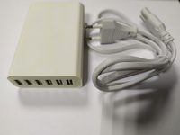 Многопортовое зарядное устройство (выход 6 USB, 5V 2A /порт, 5V 12A max) белый